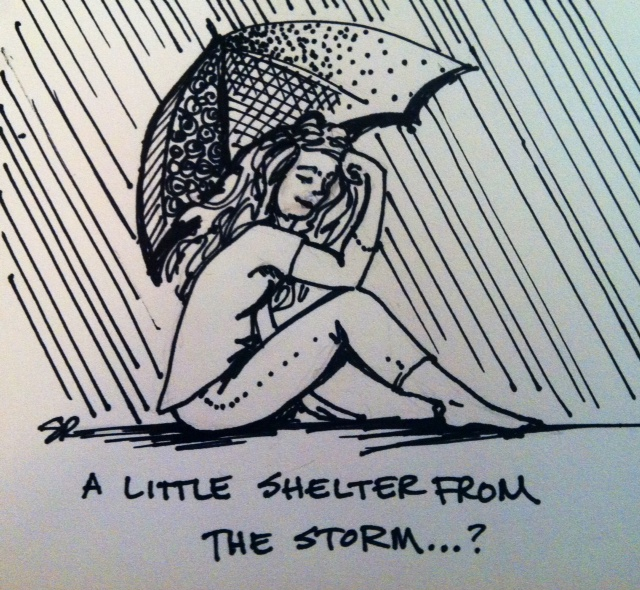 """A little shelter from the storm... ?"